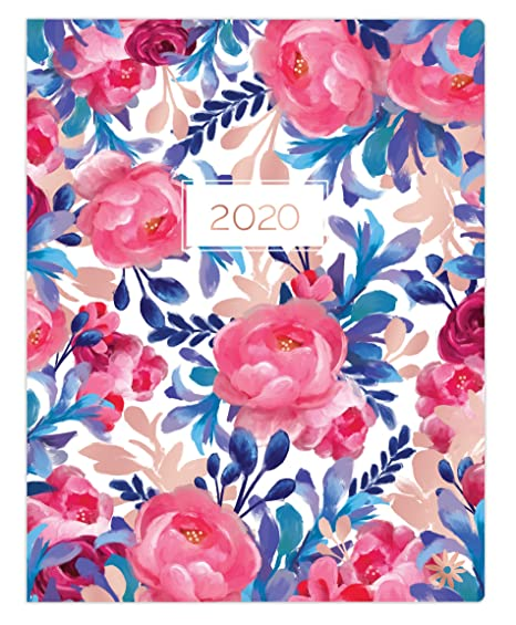 "bloom daily planners 2020 Monthly Planner Calendar (January 2020 - December 2020) - Large 9"" x 12"" Agenda Schedule Organizer - Blue & Red Floral"