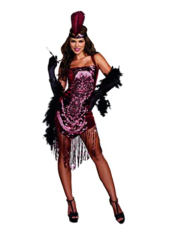 Amazon.com Dreamgirl Womenu0027s Gatsby Girl 1920u0027s Flapper Costume Clothing  sc 1 st  Amazon.com : halloween costumes gatsby  - Germanpascual.Com