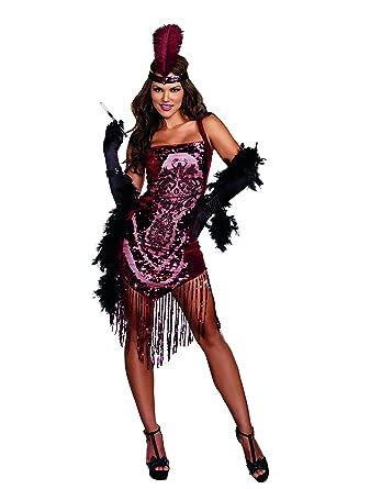 6e428134ffb Amazon.com  Dreamgirl Women s Gatsby Girl 1920 s Flapper Costume  Clothing
