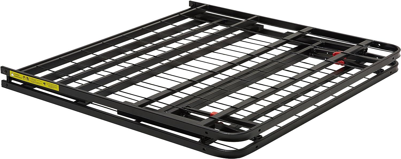 Amazon Basics - Somier fijo plegable, montaje sin herramientas, permite almacenar debajo de la cama, 90 x 190 cm