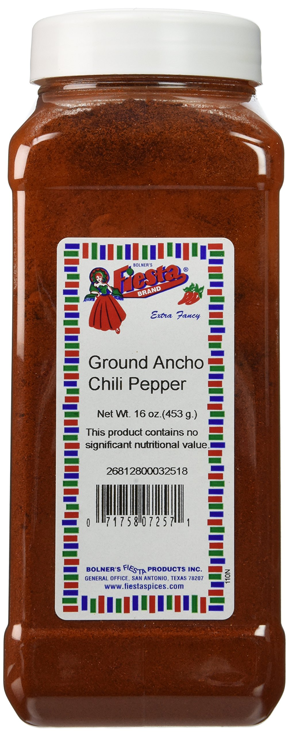 Bolner's Fiesta Extra Fancy Ground Ancho Chili Powder, 16 Oz.