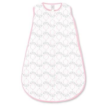 SwaddleDesigns algodón saco de dormir con cremallera de 2 Vías, 6 A 12 meses, color rosa Lolli Fleur: Amazon.es: Bebé