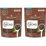 Navitas Organics Cacao Nibs, 8 oz. Bag — Organic, Non-GMO, Fair Trade, Gluten-Free (Pack of 2)