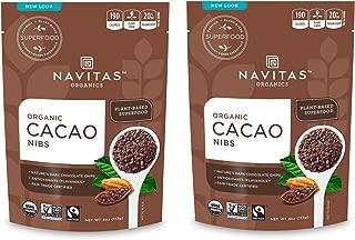 product image for Navitas Organics Cacao Nibs, 8 oz. Bag — Organic, Non-GMO, Fair Trade, Gluten-Free (Pack of 2)
