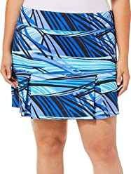 64d13b3218c Reel Legends Plus Keep It Cool Stripe Print Skort