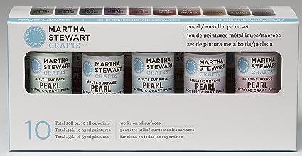 PlaidCraft Martha Stewart Pearl Metallic Acrylic Craft Paint Set
