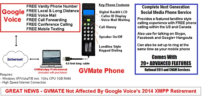 Amazon com : GVMate: VoIP Phone with Google Voice and