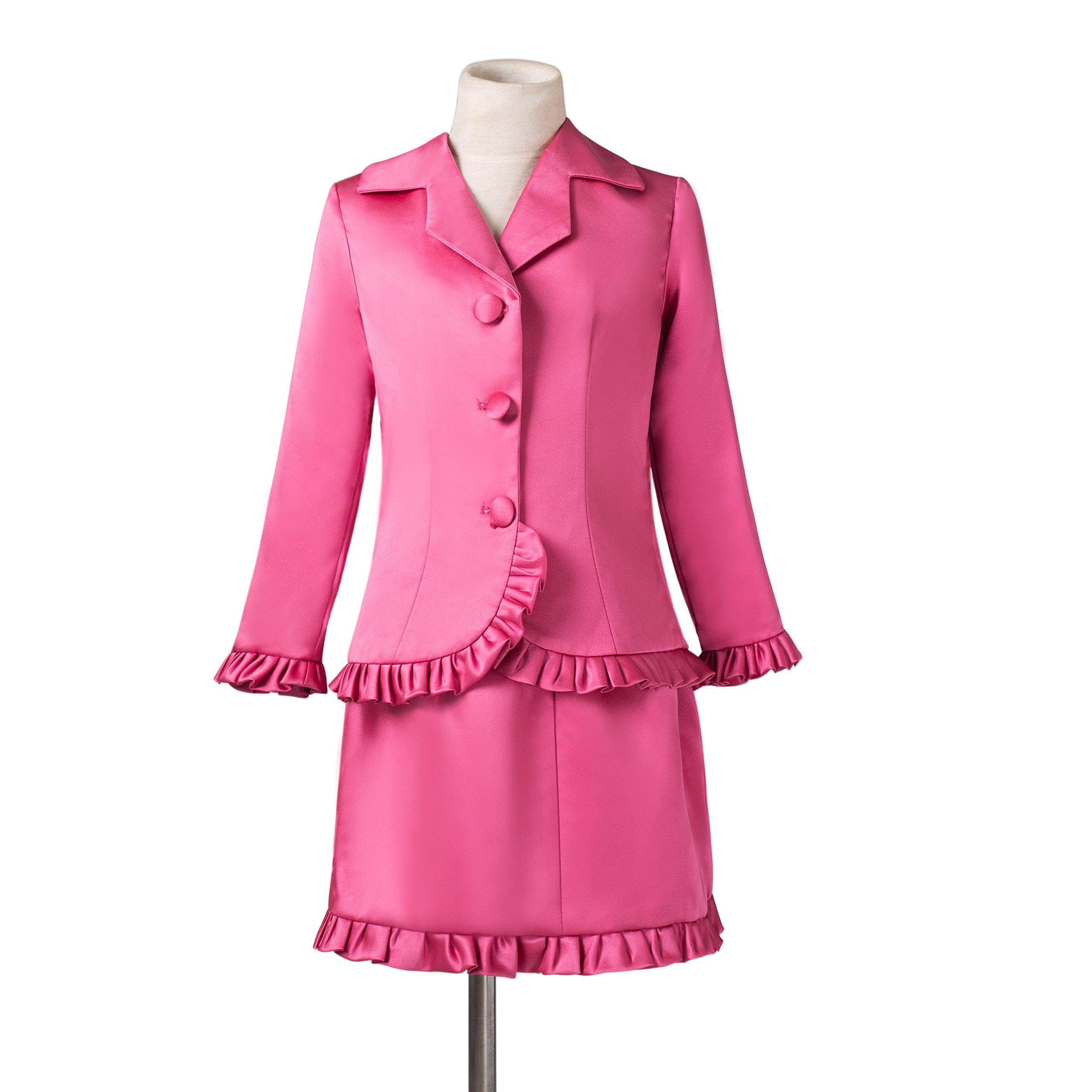 MLT Girls' Three Bottons Interview Pageant Suits Ruffles Outfits (4)