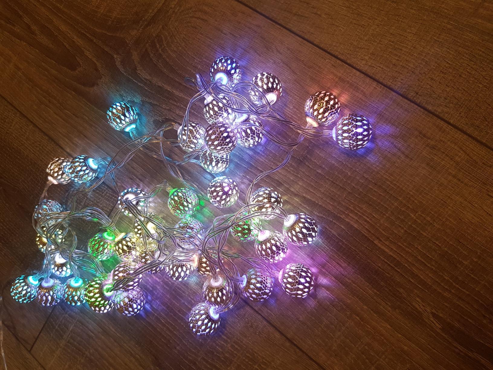 Marokkanische  LED Kugel Lichterkette photo review