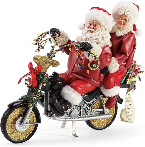 Department 56 Possible Dreams Santa Sports and Leisure Christmas Chopper Personalizable Figurine, 11 Inch, Multicolor