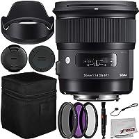 Sigma 24mm f/1.4 DG HSM Art Lens for Nikon F Bundle Includes Manufacturer Accessories + 3PC Filter Kit + Lens Cleaning Pen + Cap Keeper + Microfiber Cleaning Cloth