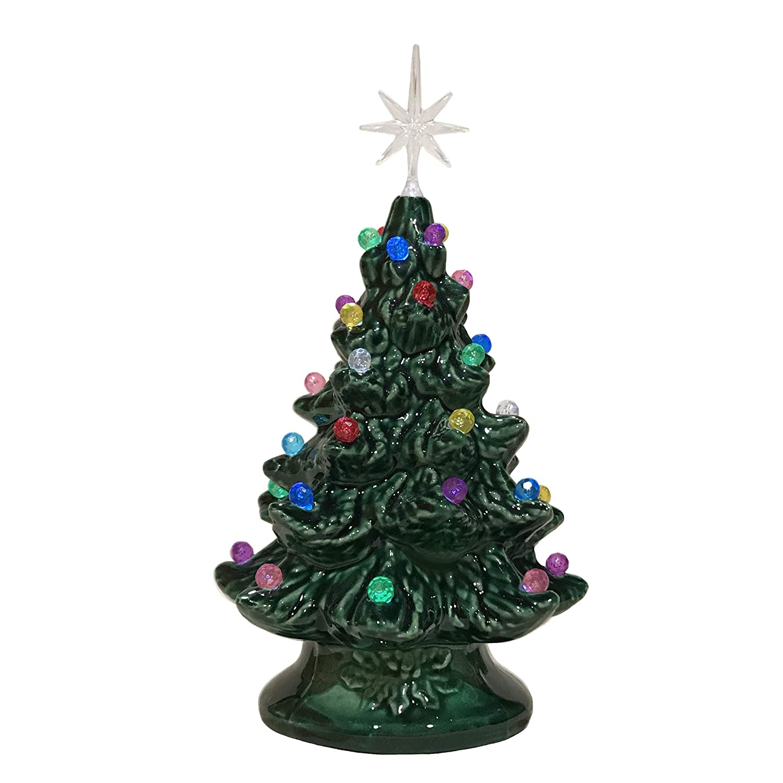 Amazon Clay Forge Tealight Ceramic Christmas Tree 6 Inch Hand