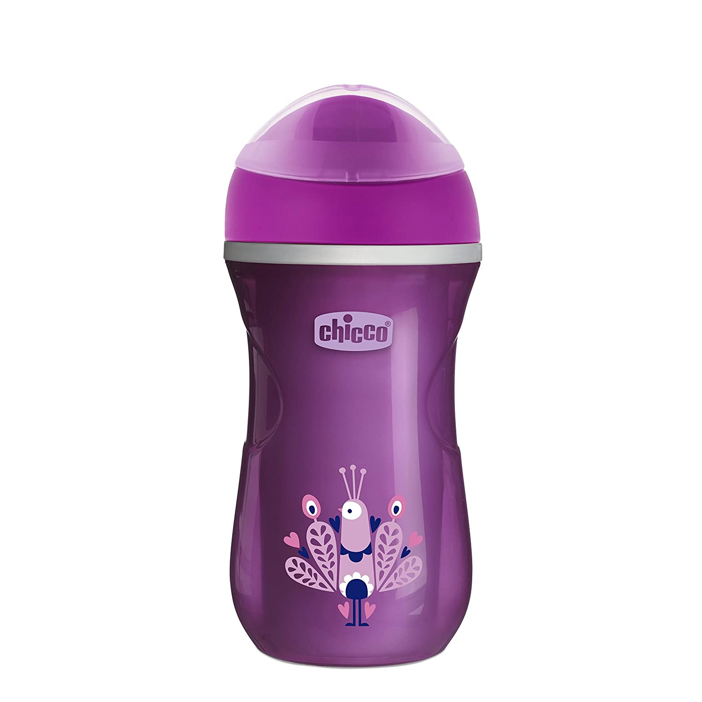 Vaso con boquilla que mantiene la temperatura color rosa Chicco Termo Active