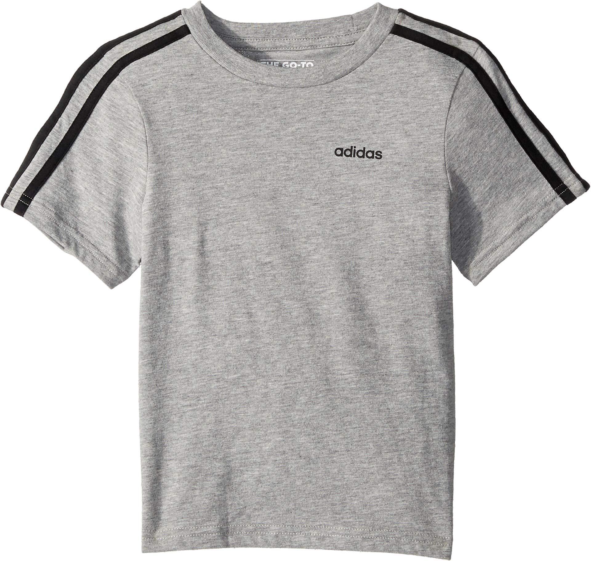 adidas Kids Mens 3-Stripe Tee (Little Kids)