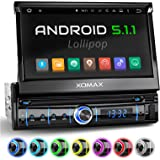 """XOMAX XM-VRSUA737 Android 5.1 Car Stereo Head Unit with GPS Sat Nav + Online-Navigation-App + Support WiFI + Bluetooth hands-free + 7"""" / 18 cm HD touch screen display 16:9 (widescreen) + USB port (up to 128 GB) + Micro SD slot for cards - (up to 128 GB) + Audio / Video files: MP3, WMA, MPEG4, JPEG etc. + Connections for subwoofer, rear view camera, steering wheel + Single DIN / 1 DIN Standard + Includes GPS antenna"""