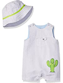 3dd7014b1bc1 Little Me Baby Boys Sunsuit with Hat