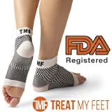 Plantar Fasciitis Compression Socks By Treat My Feet – Relief From Foot Pain, Swelling & Edema – Improves Blood Circulation, Achilles Heel & Arch Support – FDA Registered Ankle Sock