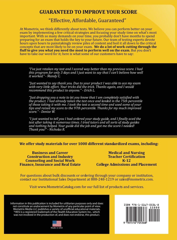 Hesi a2 secrets study guide media mometrix 9781516705368 amazon com books