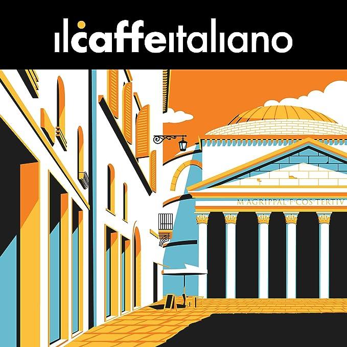 FRHOME - Caffitaly 100 Càpsulas compatibles - Il Caffè Italiano - Mezcla Roma Intensidad 10