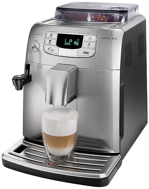 Philips Saeco Intelia Evo - Cafetera (Independiente, Totalmente automática, Espresso machine, Granos de café, Capuchino, Café expreso, Agua caliente, ...