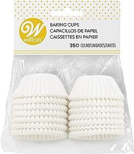 Wilton Baking Cups, Mini, White, 350-Count
