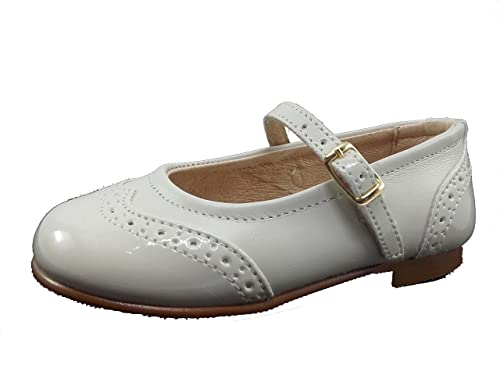 f2689c902 Zapatos Merceditas Charol+Napa para Niñas Todo Piel Angelitos mod.1526. Calzado  Infantil