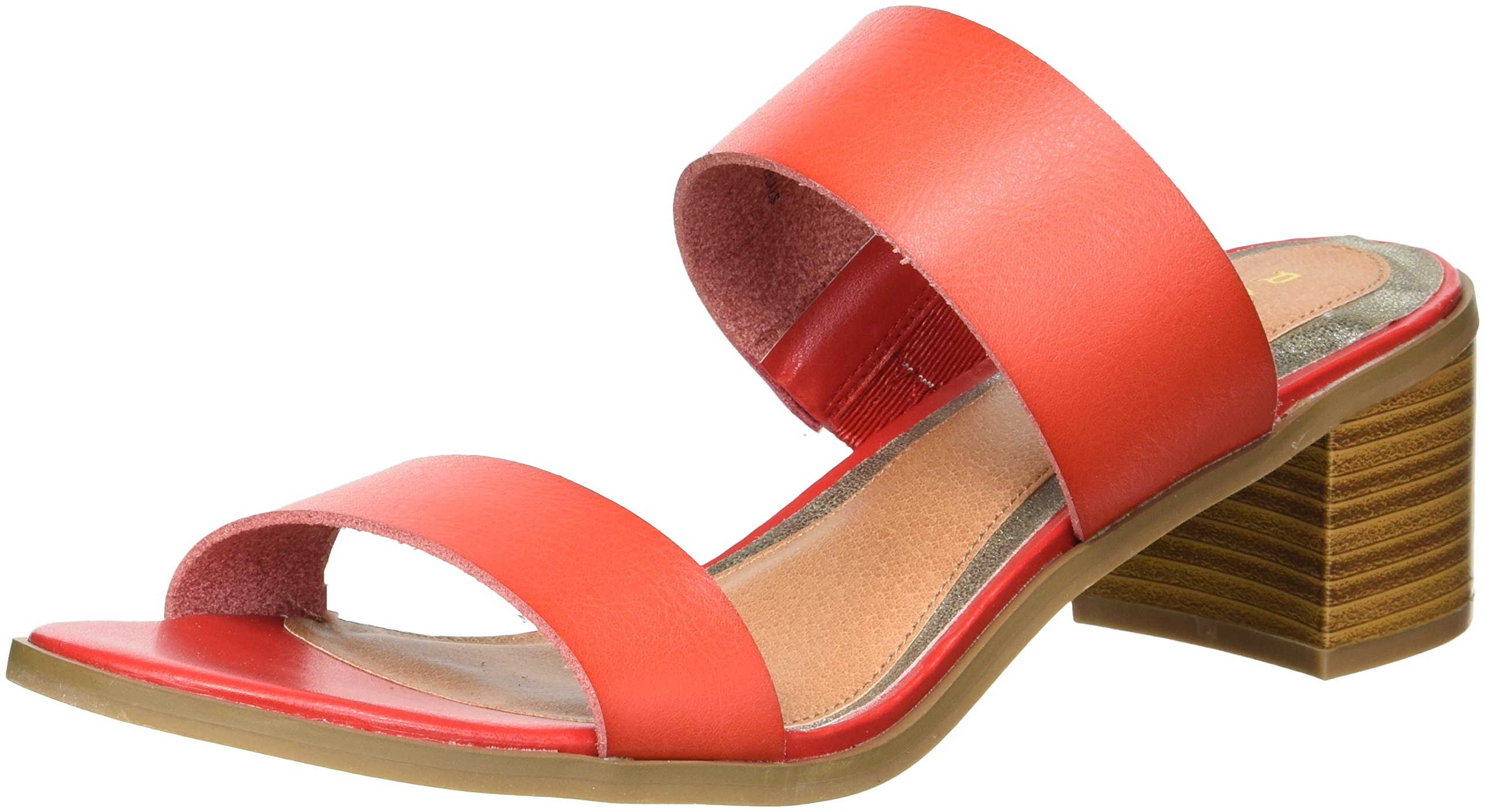 Rampage Women's Ram-Hatty Heeled Sandal, Red Burnished, 9 M US