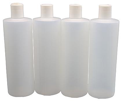 J & S 16 oz Squeeze botellas con tapones de disco con tapa – 4 unidades