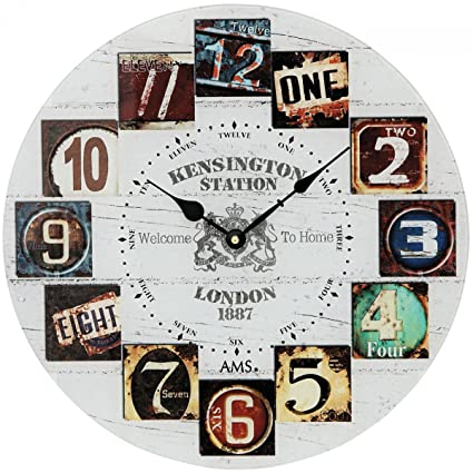 AMS Modern wall clock with quartz movement from W9470