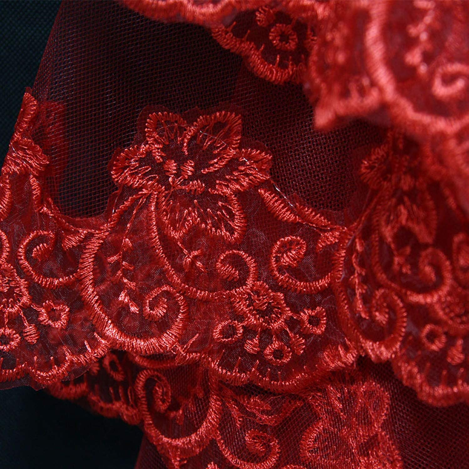 3M One Layer Lace Edge Red White Ivory Cathedral Wedding Veil Long Bridal Veil Veu de Noiva,WHITE,300cm
