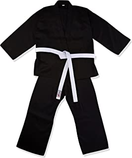 TurnerMAX Karate Completo Nero 8 oz in Cotone con Cintura