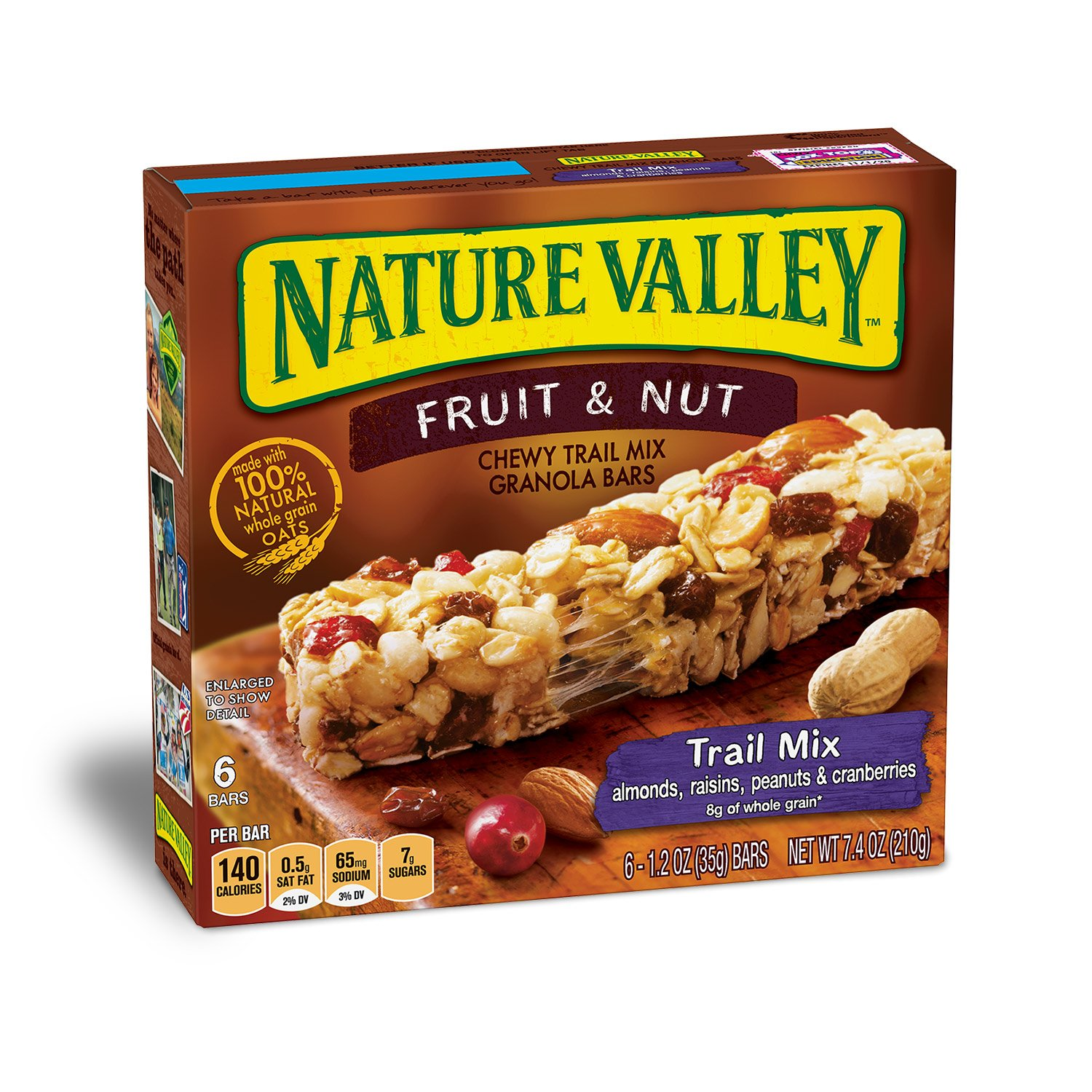 valley nature nut fruit granola bars bar mix trail chewy nutrition walmart pack facts box cereal oz chocolate protein naturevalley