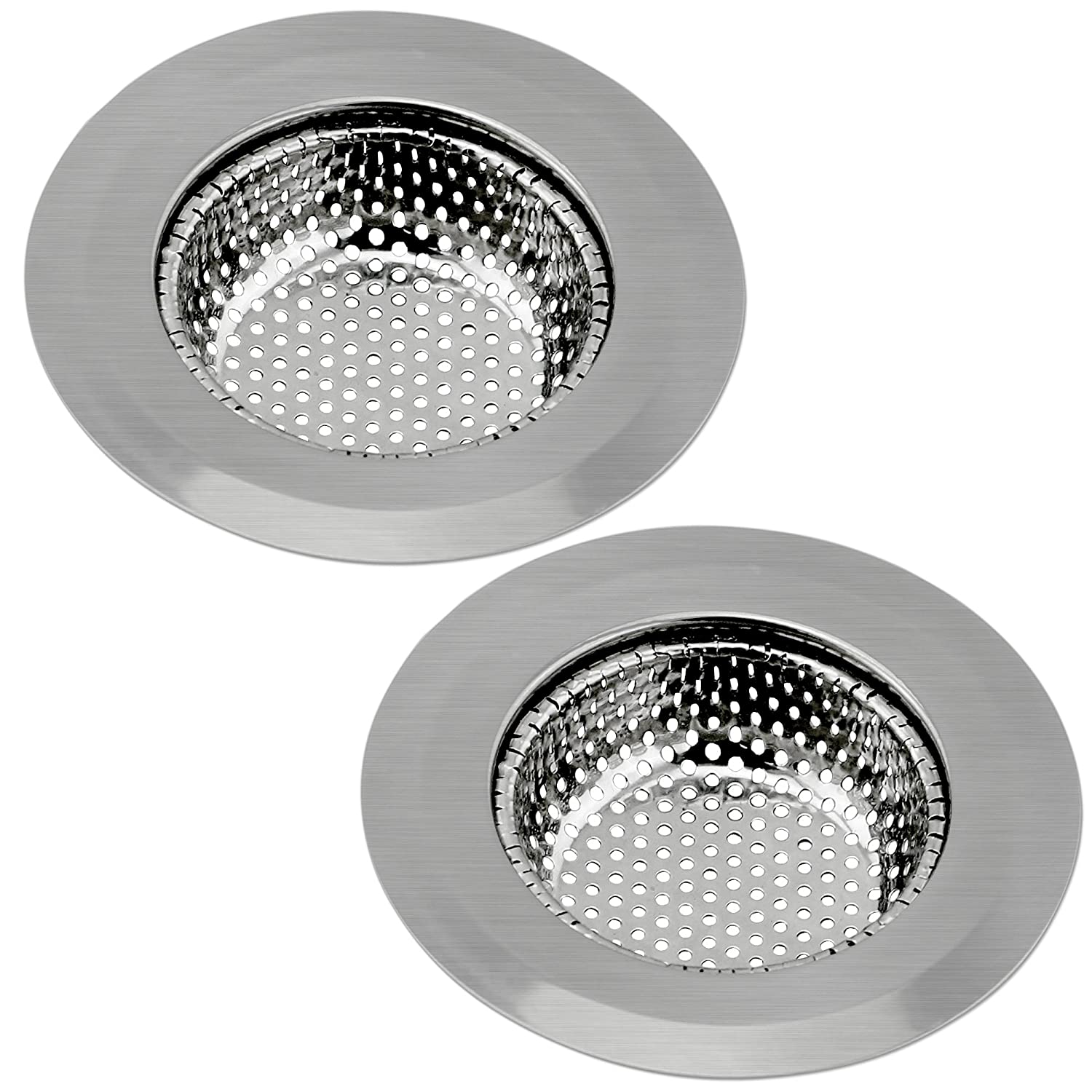 kitchen sink mesh strainer set of 2 ipow sturdy stainless steel kitchen sink strainer 5858