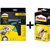 Pattex Heißklebepistole Made at Home, inkl. 6 Heißklebesticks / Set (+ 25 Sticks extra)