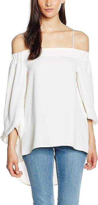Pedro del Hierro, BLUSA M/ABULLONADA - Blusa para mujer, color marfil, talla XS (talla fabricante: 01): Amazon.es: Ropa y accesorios