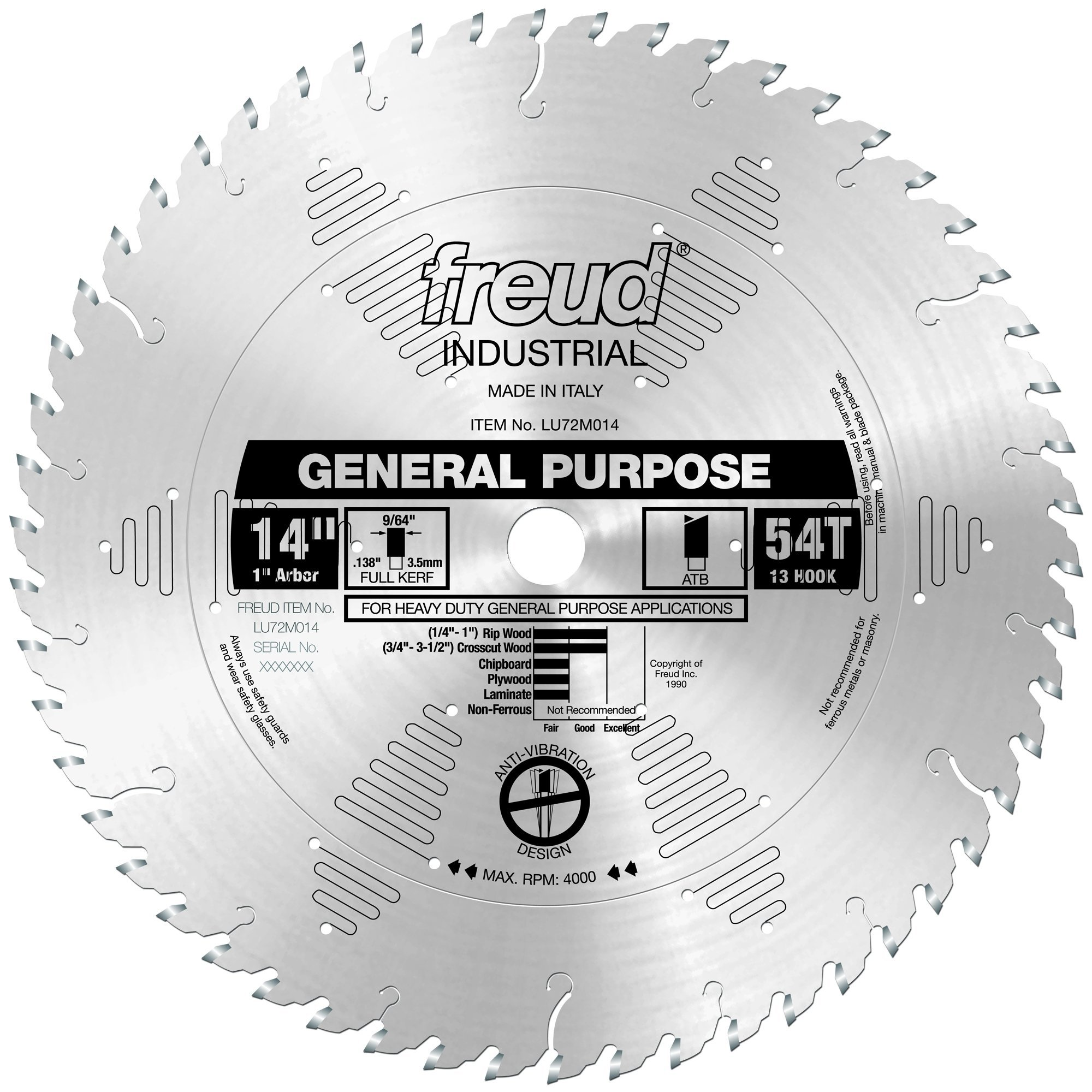 Disco Sierra FREUD LU72M014 14 Propósito general
