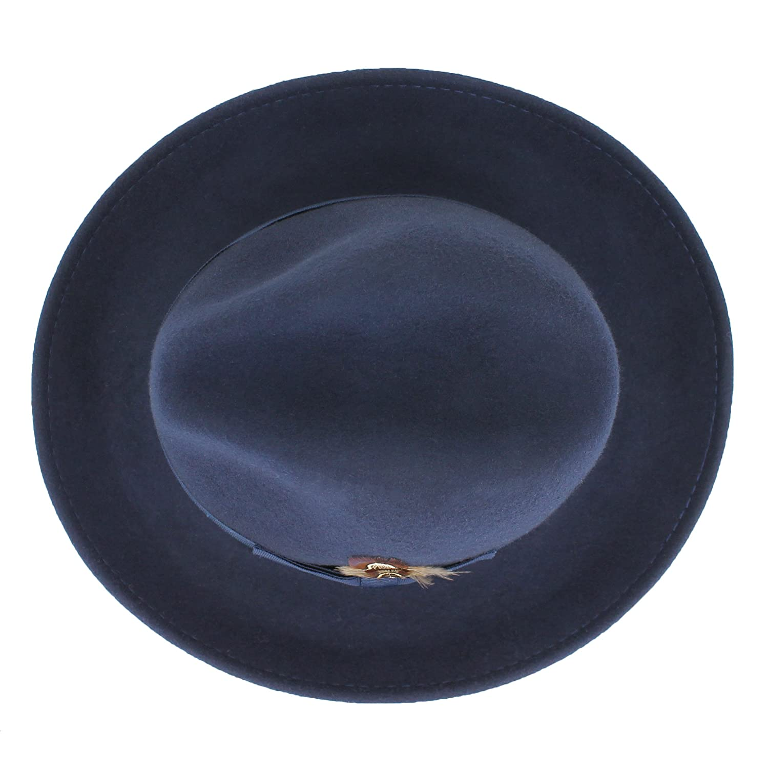 7778d1774cfd6 Belfry Crushable Dress Fedora Mens Vintage Style Hat 100 % Pure Wool in  Black Blue Grey ...