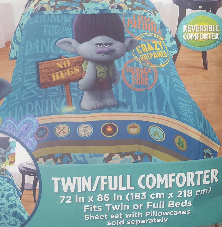 "Dreamworks Trolls Boy Branch ""No More Hugs"" Twin/Full Comforter"