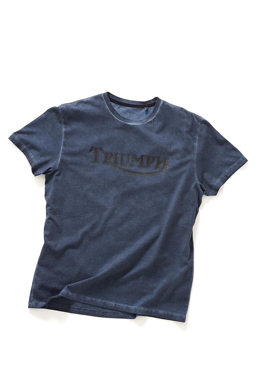 Camiseta azul con logotipo vintage de Triumph Motorcycle
