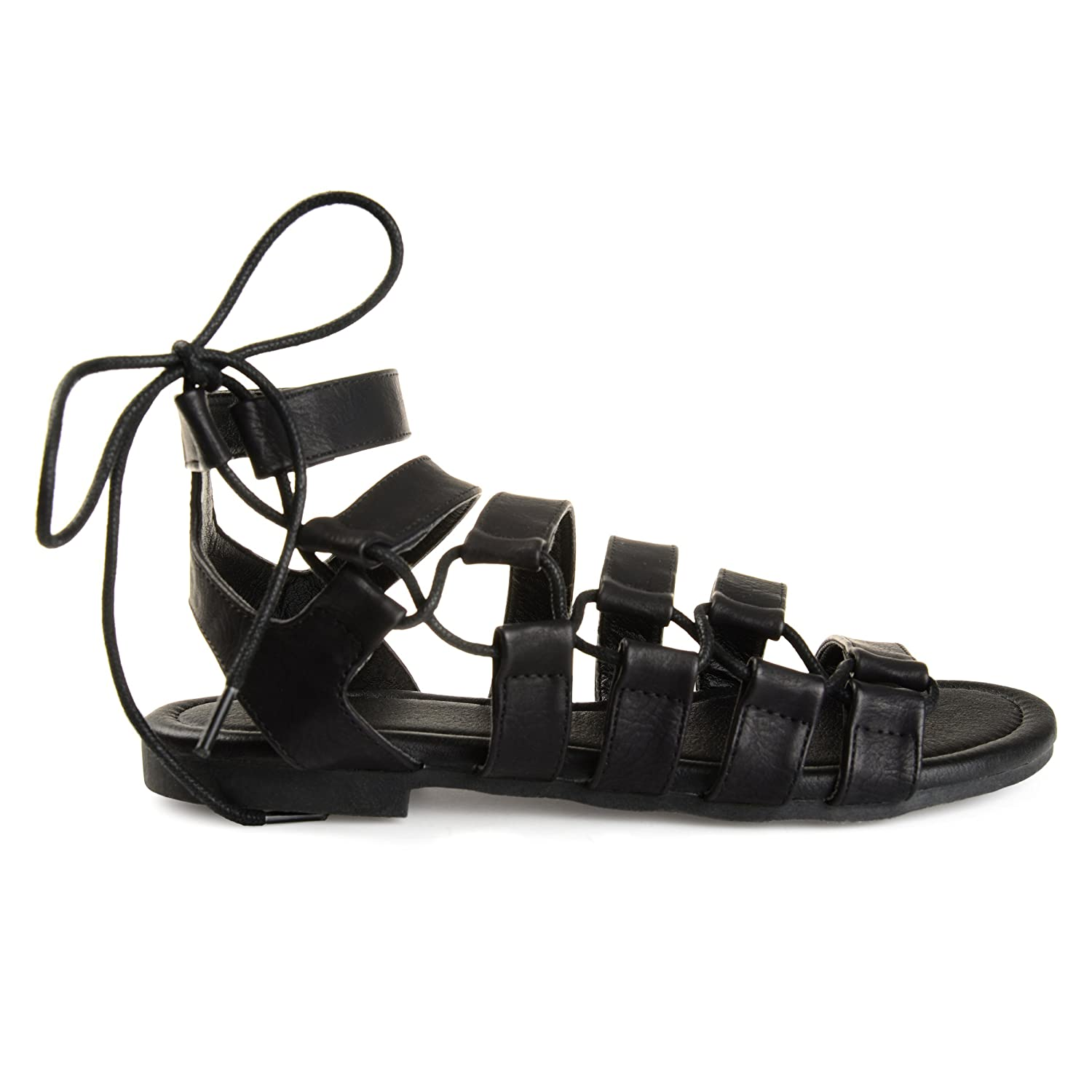 28912992a5fb Womens Clove Caged Faux Leather Strappy Gladiator Sandals