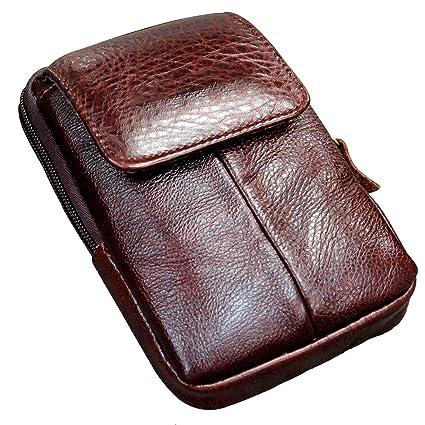 757f27add1da Amazon.com: Men's Belt Pouch Holster Waist Bag Fanny Packs Leather ...