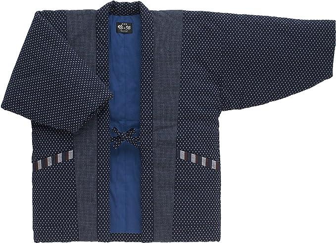 Japanese Kimono Hanten Warm Wear Winter Jacket Free size Made in JAPAN 18003