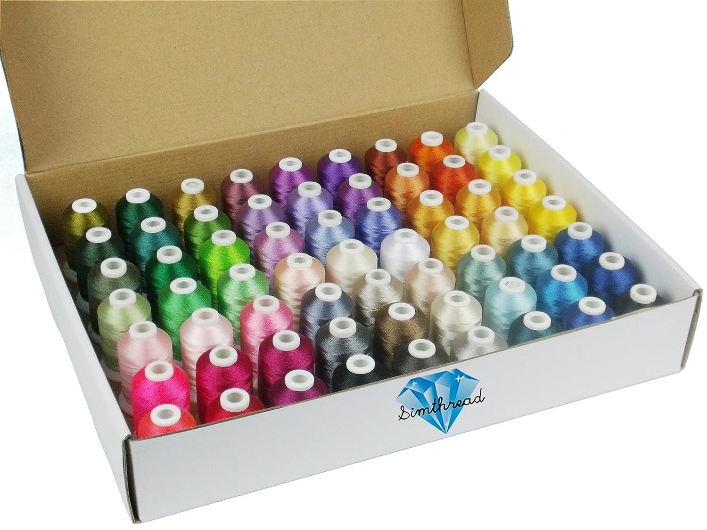 Simthreads - Bobinas para bordar para máquina Brother, 63 colores ...