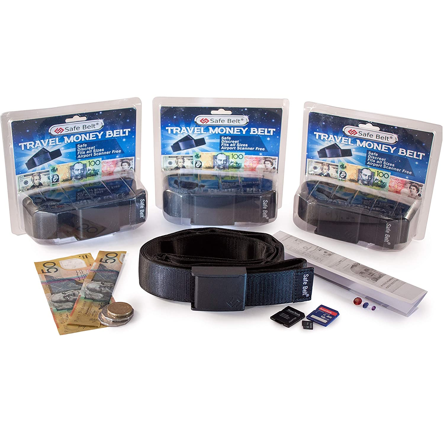 Travel Money Belt with Hidden Pocket Airport Security Friendly No Metallic Parts Clever and Discreet Way to Keep your Valuables Safe Totally Undetectable to the Public