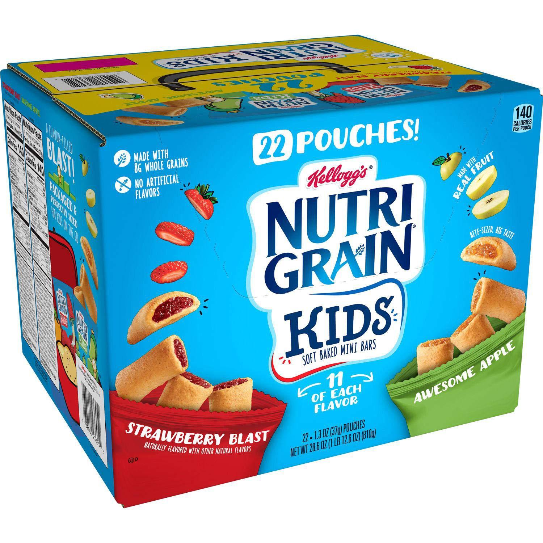 Kellogg's Nutri Grain Kids Soft Baked Mini Bars 22 X 1.3 Oz Net Wt (28.6 Oz),