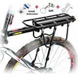 West Biking 110 Lb Capacity Almost Universal Adjustable Bike Cargo Rack Cycling Equipment Stand Footstock Bicycle Luggage Carrier Racks with Reflective Logo