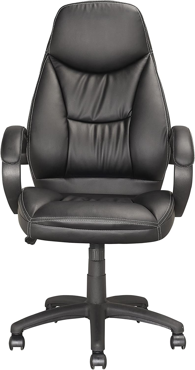 CorLiving LOF-508-O Executive Office Chair in Black Leatherette