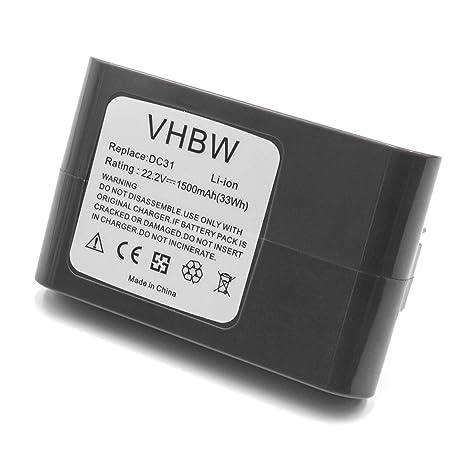 vhbw Li-Ion batería 1500mAh (22.2V) para aspiradora robot autónomo de limpieza