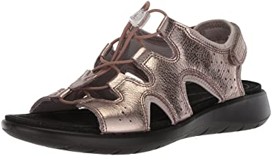 cd6c25639f52d2 ECCO Women s Women s Soft 5 Toggle Sandal Warm Grey Metallic 35 M EU (4