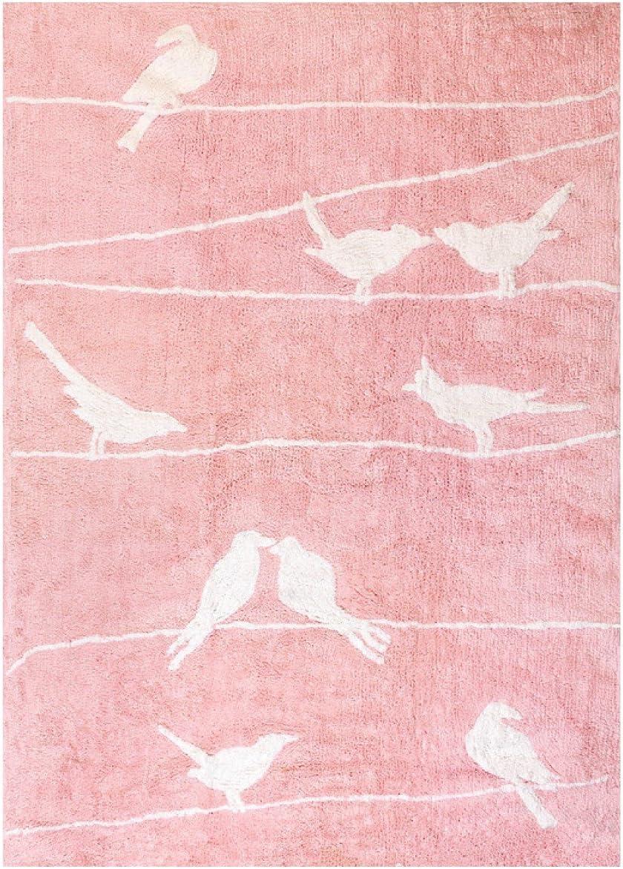 Lilipouce Tapis Enfant Coton Oiseaux